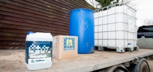 AdBlue diesel additive and engine oil delivery to commericial fleet client in Essex UK